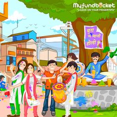 This holi get drenched into splashes of deals Visit: https://www.myfundbucket.com/contact-us Toll free - 1800 1200 288 #HappyHoli #Festival
