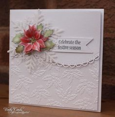 CAS Poinsettia card by Veritycards - Cards and Paper Crafts at Splitcoaststampers
