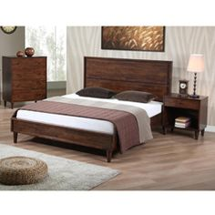 @Overstock.com.com - Vilas Queen-size Bed - Update the look of your room with this stylish queen-size bed from Vilas. This bed offers somewhat of an antiqued style with its tall headboard and elegant tapered legs. It includes 12 durable slats, so it can be used without a box spring.  http://www.overstock.com/Home-Garden/Vilas-Queen-size-Bed/5169630/product.html?CID=214117 $496.99