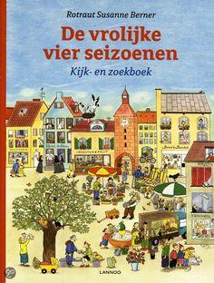 'De vrolijke vier seizoenen', groot verzamel kijk- en zoekboek van Rotraut Susanne Berner (24,99 euro bij bol.com)
