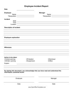 Free Employee Write Up Sheets  Employee Written Notice  Look
