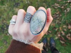 "94 Likes, 8 Comments - Luna's Locket (@lunaslocket) on Instagram: ""Lichen Ring - size UK N/US 7  •• available in the Woodlands shop update on Sunday 26th Feb at 8pm…"""