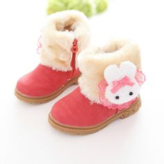 793c36e636d21 Girls Boots Princess 2017 Brand New Winter Children Shoes Plush Warm Bow  Fashion Girl Snow Boots Kids Soft Bow Cute Girls Shoes