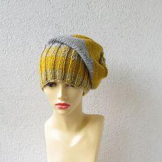 slouchy beanie  stormy gray urban hats beanie by AlbadoFashion, $38.00