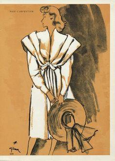 Mad Carpentier 1945 René Gruau, Fashion Illustration