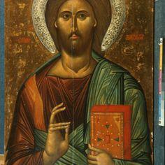 Christ Pantokrator · The Sinai Icon Collection Savior, Jesus Christ, Christ Pantocrator, Holy Quotes, Icon Collection, Son Of God, Illuminated Manuscript, Byzantine, Mona Lisa