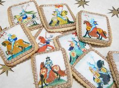 Medieval / Renaissance Knights Wafer Paper for Cookies -- Edible Images. $7.50, via Etsy.