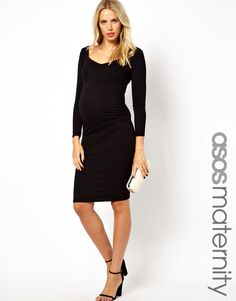 ASOS Maternity Body-Conscious Dress With Sweetheart Neck
