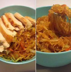 Mom in Progress - 21 Day Fix Spaghetti Squash Chow Mein. I have tried SO many recipes with spaghetti...