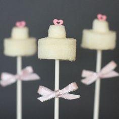Wedding Cake Marshmallow Pop by MARSHMALLOWPOPSTOP on Etsy, $2.50