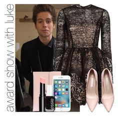 """award show with luke"" by awk0cass ❤ liked on Polyvore featuring Alexis, Alexander McQueen, Essie, women's clothing, women's fashion, women, female, woman, misses and juniors"