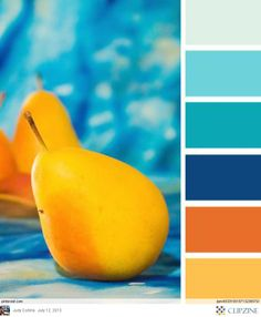 pear brights Color Palette by Design Seeds Colour Pallette, Color Palate, Colour Schemes, Color Patterns, Color Combinations, Orange Palette, Paint Schemes, Beach Color Schemes, Beach House Colors