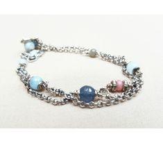 The original silver bracelet with amethyst delicate feminine jewelry Sterling Silver Bracelets, Beaded Bracelets, Schmuck Design, Pandora Charms, Invite, Amethyst, Delicate, Feminine, Charmed