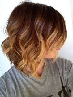 Cute Short Ombre Hair - Side View of Wavy Ombre Hair