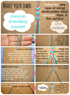 DIY Chevron Friendship Bracelet– This is one of the best tutorials I've found, and trust me- I've looked at a PLETHORA of them! DIY Chevron Friendship Bracelet– This is one of the best tutorials I've found, and trust me- I've looked at a PLETHORA of them! Yarn Bracelets, Diy Bracelets Easy, Embroidery Bracelets, Summer Bracelets, Bracelet Crafts, Ankle Bracelets, Diy Embroidery, Diy Bracelets With String, Braclets Diy