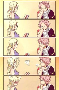 Natsu and Lucy= Nalu from fairy tail - anime Fairy Tail Meredy, Fairy Tail Loki, Fairy Tail Comics, Fairy Tail Gray, Fairy Tail Funny, Fairy Tail Natsu And Lucy, Fairy Tale Anime, Fairy Tail Nalu, Fairy Tail Guild