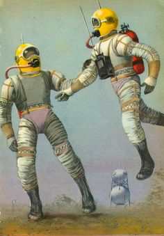 Astronauts in spacesuits