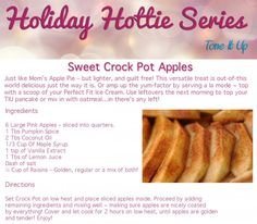 Sweet & Healthy Crock Pot Apples! Great for fall gatherings, an after dinner treat and with breakfast! www.toneitup.com