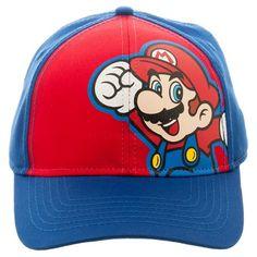 Super Mario Boys' Baseball Hat - Blue/Red OSFM