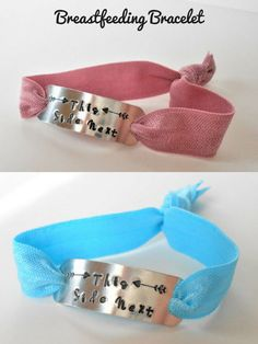 A hand-stamped stretch bracelet for nursing moms to remind them which side is next. Food For Breastfeeding Moms, Lego For Kids, New Mums, Stamped Jewelry, Gifts For Mum, Metal Stamping, Stretch Bracelets, Valentine Day Gifts, Hand Stamped