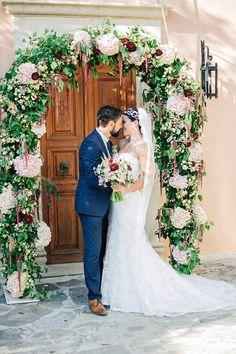 Pretty Amanda Wyatt bride Lara in Crete. Photographer . . . HannaMonika Wedding Photography