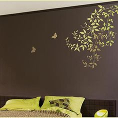 Cutting Edge Stencils - Budding Clematis 5pc Stencil kit  So very pretty. I could see this in my livingroom. Love it !!