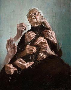 """Artwork by Italian contemporary painter Giovanni Gasparro"" Ap Studio Art, Religious Art, Art Inspo, Painting & Drawing, Amazing Art, Concept Art, Contemporary Art, Art Photography, Illustration Art"