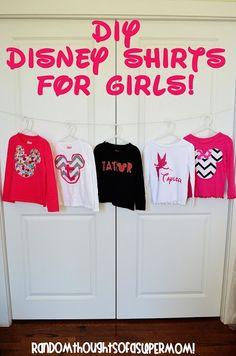DIY Disney Shirts for Girls