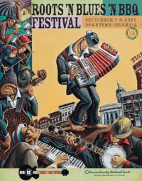 2007 Roots N Blues N BBQ Festival poster
