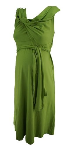 Green Isabella Oliver Maternity Spring Wrap Maternity Dress (Like New - Size 2) - Motherhood Closet - Maternity Consignment