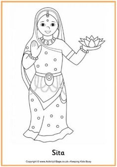 Hanuman Colouring Page 2 Other Pinterest Diwali