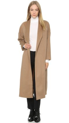 Ayr The Robe Coat in Camel