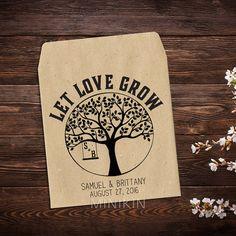 Wedding Seed Packet Rustic Wedding Favor by MinikinGifts on Etsy
