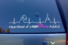 Hey, I found this really awesome Etsy listing at https://www.etsy.com/listing/214010951/heartbeat-of-a-rundisney-addict-car