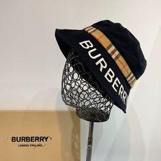 -Black Bucket Hat. -100% Cotton. Burberry Outlet Online, Black Bucket Hat, Cheap Burberry, Hats, Cotton, Hat, Hipster Hat