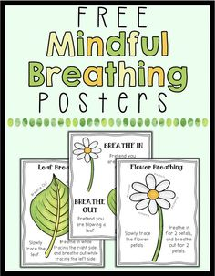 Mindfulness Posters - Free FREE posters to help students learn deep breathing. These 3 posters are spring themed and will help your students learn to practice mindfulness through breathing! Teaching Mindfulness, Mindfulness For Kids, Mindfulness Activities, Mindfulness Meditation, Mindfulness Therapy, Mindfulness Training, Mindfulness Benefits, Mindfulness Practice, Coping Skills