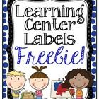 Enjoy this FREEBIE as you begin setting up your classroom! These learning center labels can be used in a variety of ways! Enjoy! ...