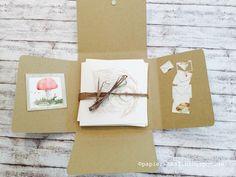 """papierZART : KartenBOX """"Pilze"""""""