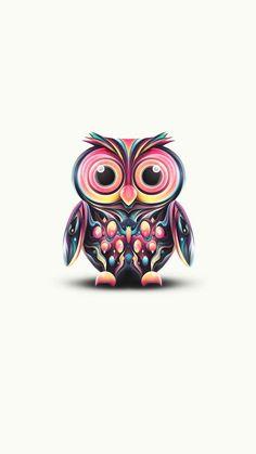illustration graphique art graphique peinture sur bois chouette tatouage hibou colore