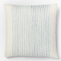 Embroidered Dot Silk Pillow Cover - Light Pool #westelm