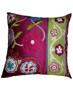 Suzani embroidered pillow Rue La La