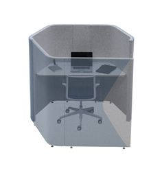 Haven Solo Pod (Mid Height)- Solo provides a solution for short-term desk based environments, be it for individual focused work away from the general workstation environment or as a temporary location for a non-desk based employee. Solo incorporates desktop power and vertical cable management.