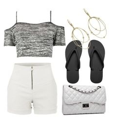 """black and white"" by aqeelah-katongole on Polyvore"