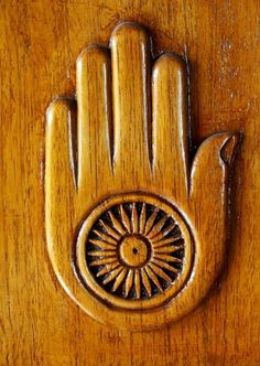 Jain symbol of non-violence http://www.teckler.com/hi/Mahavir/Jain ...