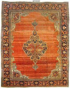 ORIENTAL CARPETS | Oriental-Carpets.com | Antique oriental carpet #43260 Sarouk Farahan ...