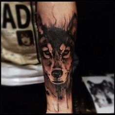 wolf tattoo by Victor Montaghini, Sao Paulo, Brazil | wolf tattoos
