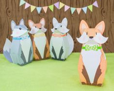 DIY Fox Favor Boxes, DIY Woodland Party Favors, Printable PDF Gift Boxes, Woodland Baby Shower Favors, Birthday Favor Box, Paper toy Fox (We receive commissions for purchases made through this link.)