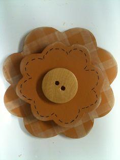 flor de madeira
