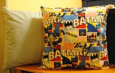 Superhero pillow.  Would be great for Big Dub's room.