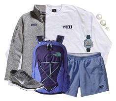 """YETI $$$"" by southernstylish ❤ liked on Polyvore featuring Patagonia, The North Face, NIKE, Timex and Honora"